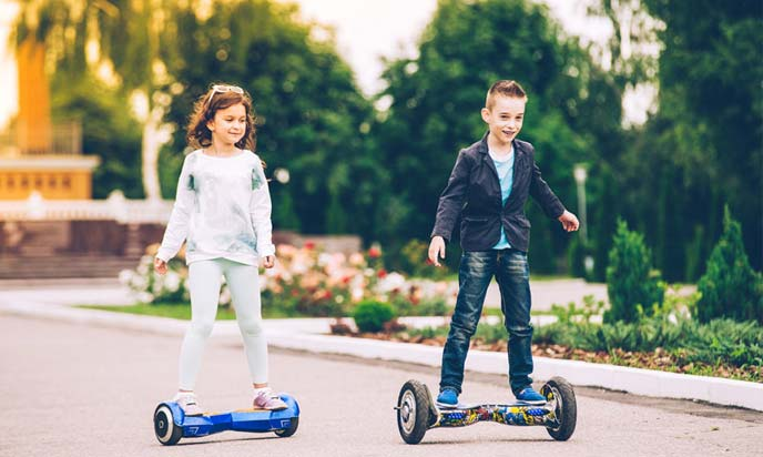 kids playing hoverboard