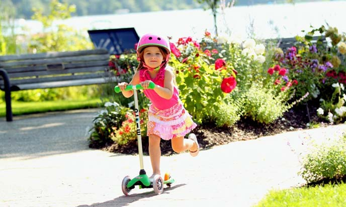 Kids Riding Scooter