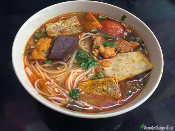 Crab Rice Noodle Soup In Vietnam 3