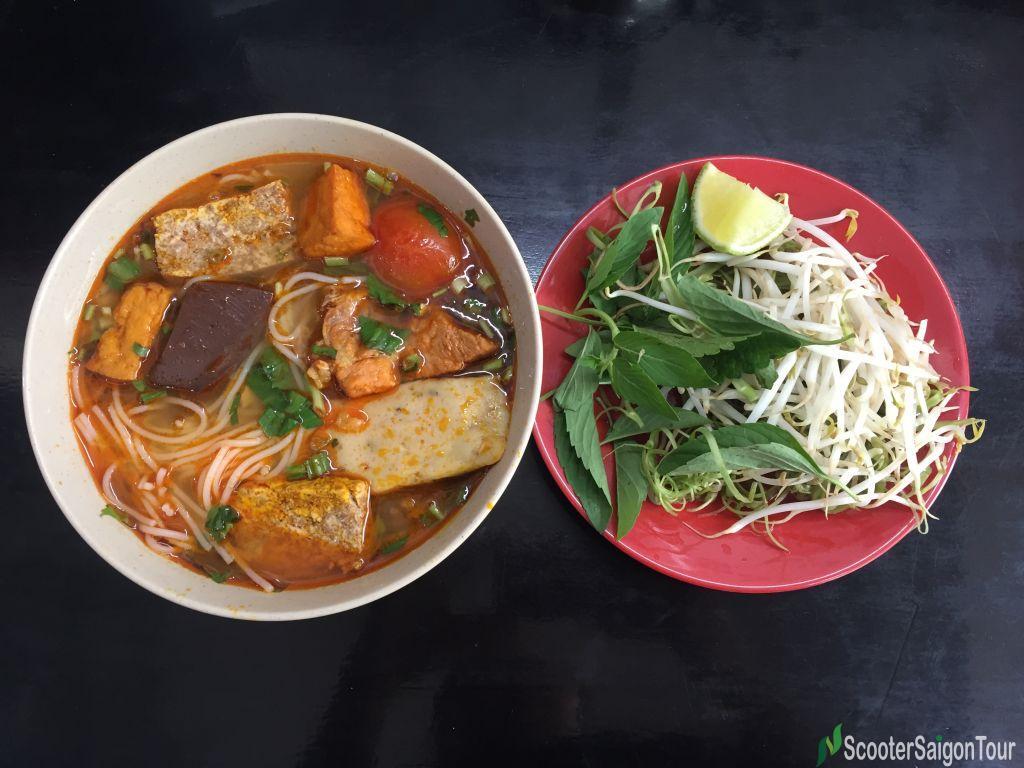 Crab Rice Noodle Soup In Vietnam