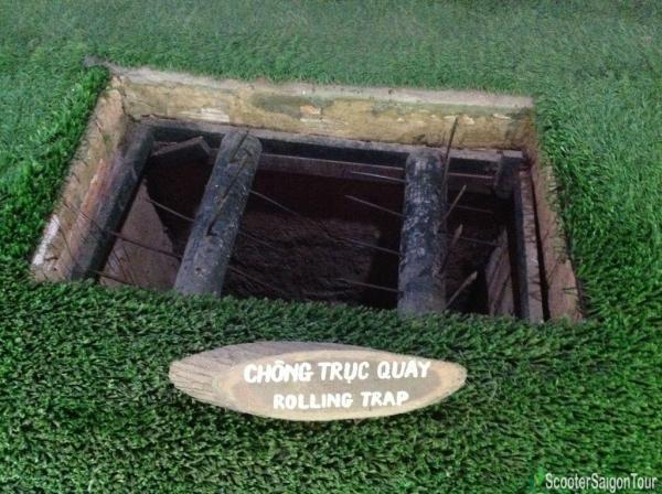 Rolling Trap In Cu Chi Tunnels