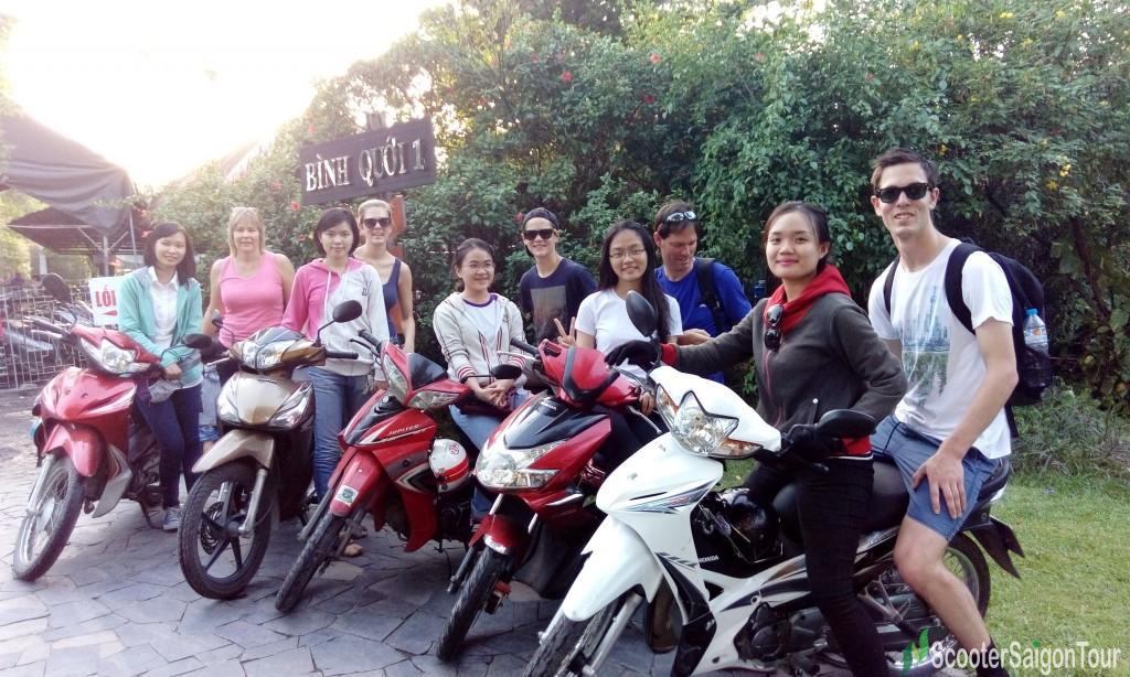 saigon motorbike tour at Binh Quoi