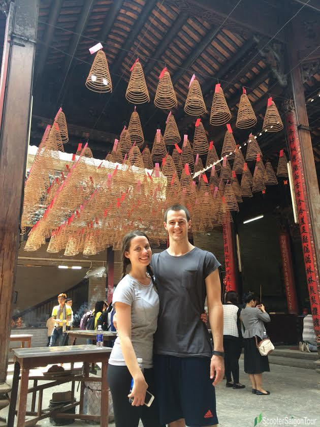 saigon sightseeing tour and street food thien hau temple