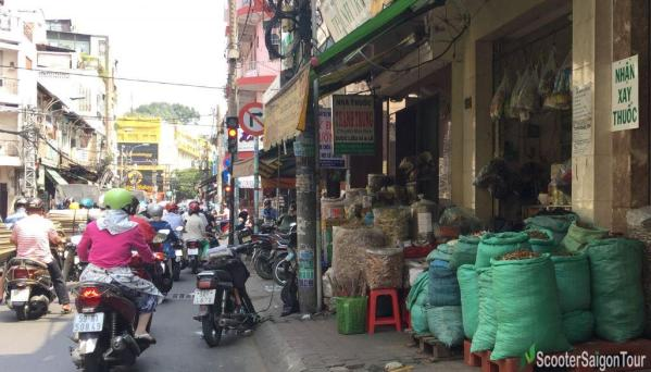 Chinese Herbal Medicine Street In China Town Saigon (Cholon)