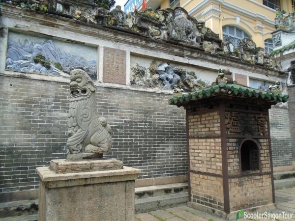 lion in the garden of Thien Hau Temple Saigon tracy