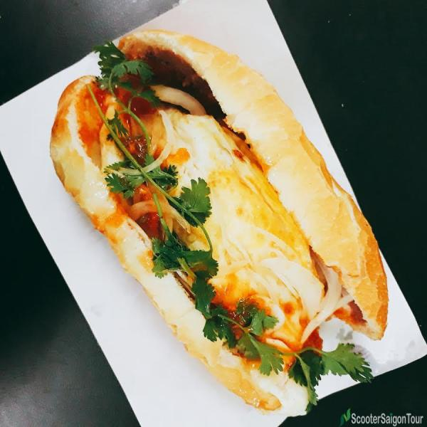 Banh Mi With Omlette In Vietnam