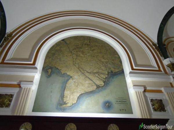 Map Inside Saigon Central Post Office Tracy