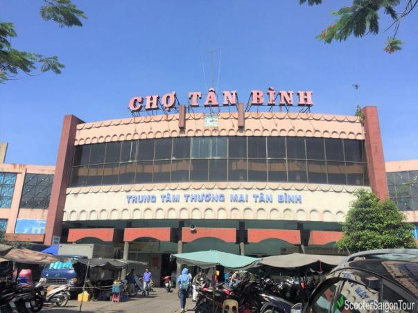Tan Binh Market In Saigon