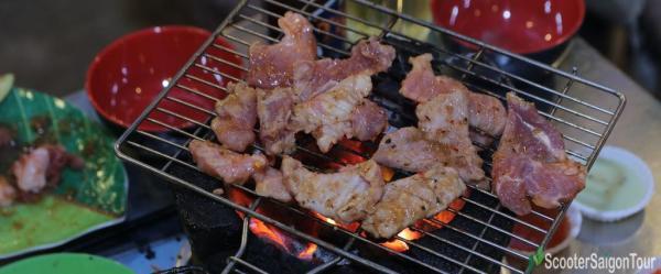 Vietnamese Barbecue Saigon Food Tour By Motorbike 7