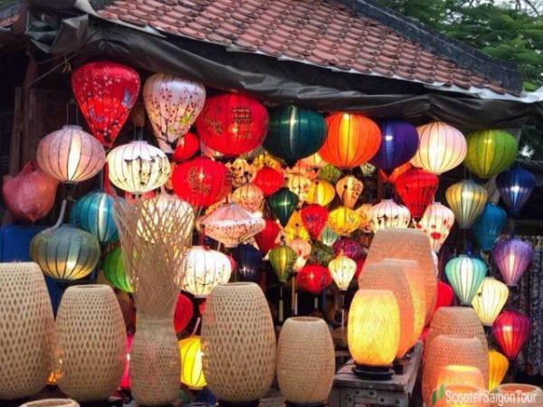 Admiring Lanterns At Night In Hoi An