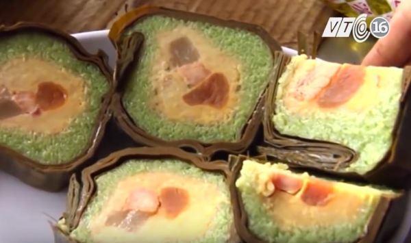 Cylindrical glutinous rice cake