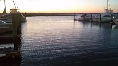 Cape May, NJ marina at sunset