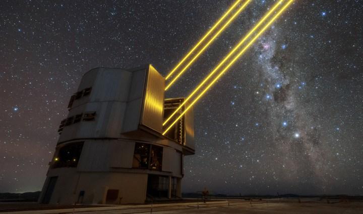 laser beam of VLT adaptive optics