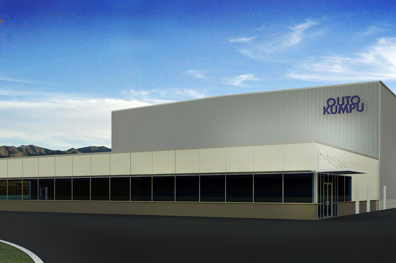 Outokumpu selected SCOPE as the Architect of Record to design a new production facility for the post-fabrication treatment of stainless steel. This is a conceptual rendering that SCOPE provided.