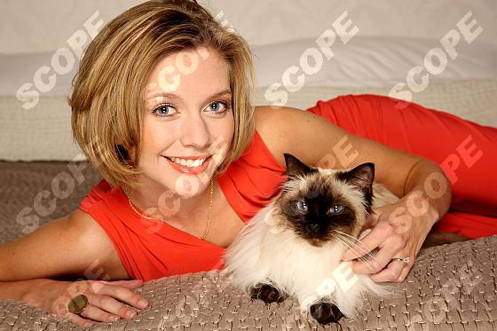 Rachel Riley at home in Essex - 2011