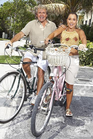 Davy jones and wife jessica at home. 2011