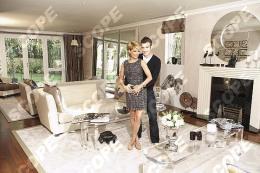 Footballer Rafael Van Der Vaart with family at home - 2011