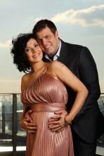 Pregnant Kym Marsh and fiance Jamie Lomas - 2011