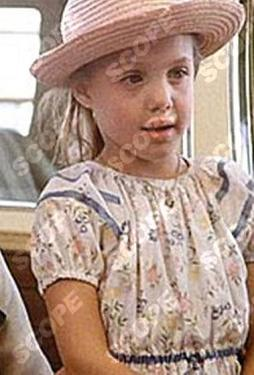 Angelina Jolie aged 7 in her first movie Lookin' To Get Out