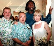 July 13th; 1997. Frank Maloney's wedding. L/R Newlyweds Frank & Tracy Maloney. Sunday July 13th at Caesars Palace in Lake Tahoe Nevada at the casinos wedding chapel. Lewis had beaten Henry Akinwande the night before.