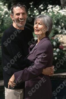 Star Trek star Leonard Nimoy with wife Susan at Hollywood Home.