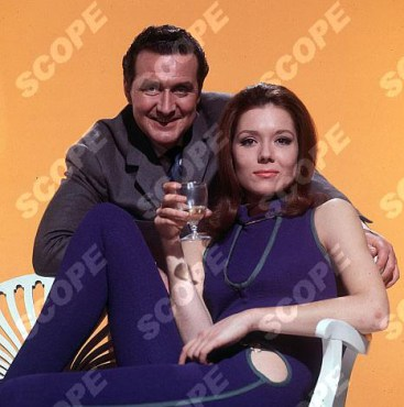 """Patrick Macnee & Diana Rigg in """"The Avengers"""" (1965) Ref : 69389TV Must credit TVTimes/Scopefeatures.com"""