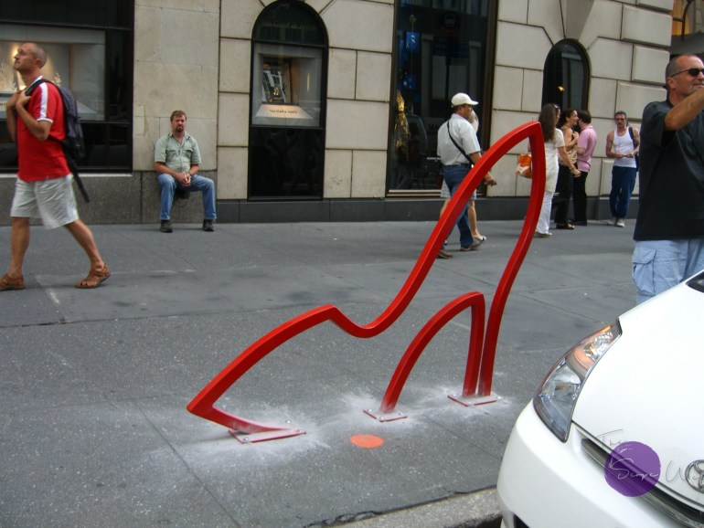 Image of David Byrne's Bike Rack The Ladies'Mile