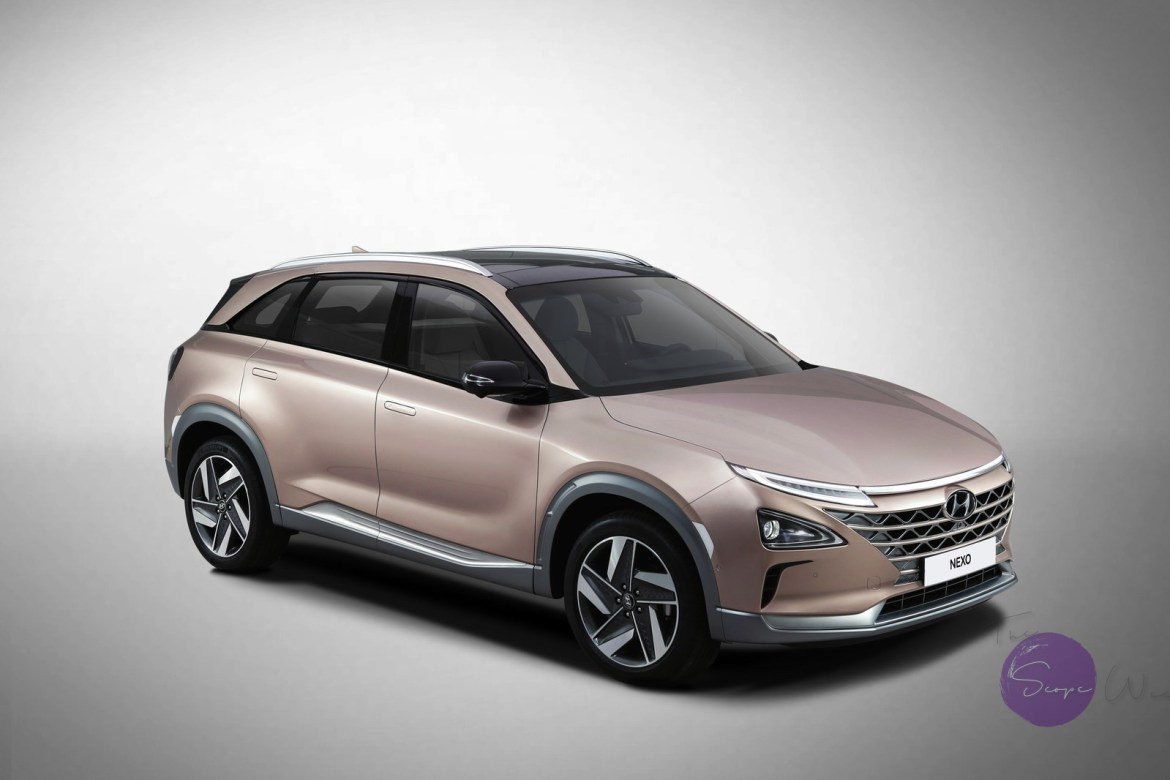 The Hyundai NEXO, a next-generation fuel cell model unveiled at CES 2018