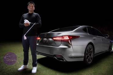 2018 US Open Lexus Jason Day Lexus Golf Ambassador Jason Day and the 2018 Lexus LS.