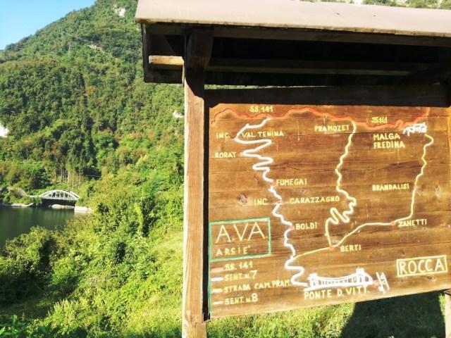 Fumegai : indicazione del percorso