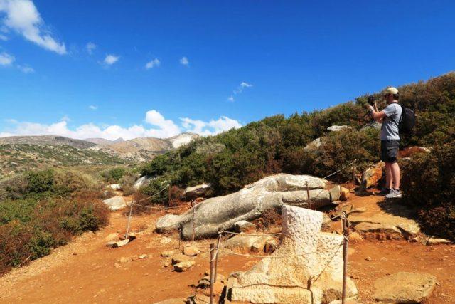 Naxos: il Kouros nella cava di Flerio