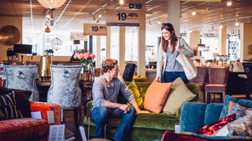 shopping with furniture retailers