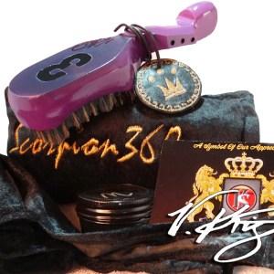 Royal Purple Medium Hard Wave Brush