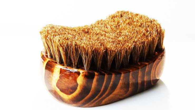 Oval Palm Horse Hair Brush