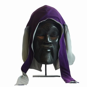 Purple & Platinum Grey Fatlace Reversible Silk Durag - Scorpion 360