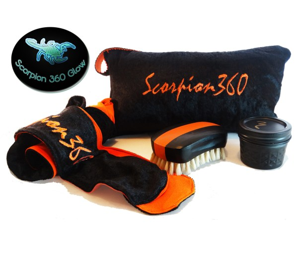 King Scorpion 360 Wide Mouth 540 Wave Brush With Glow Effect