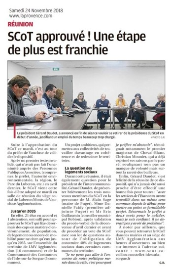 La Provence du 24 11 2018