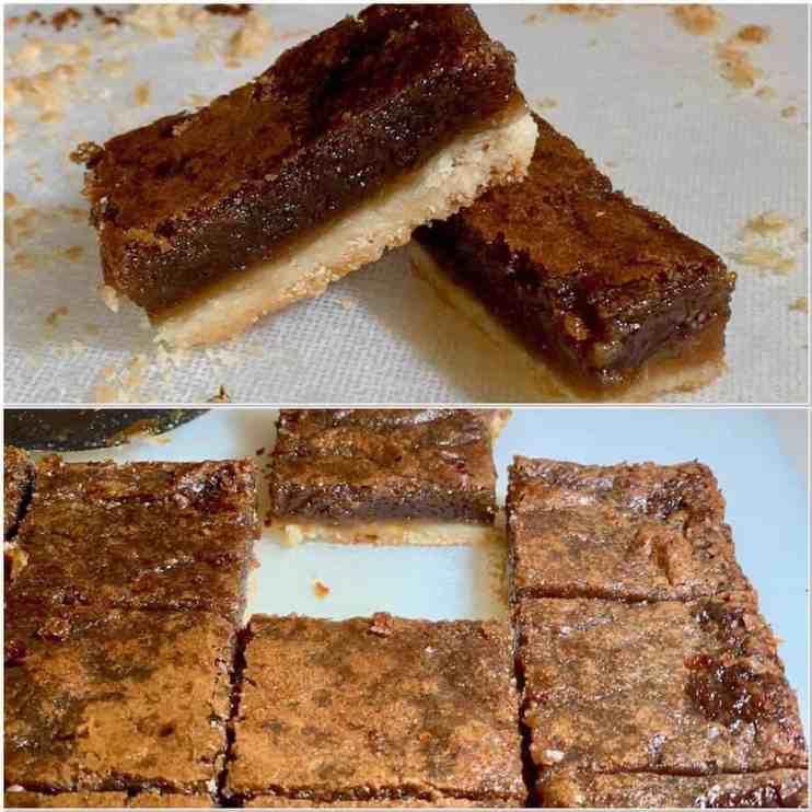 Southern Brown Sugar Pie Bars, Cookie Bars, Shortbread, slab pie, Southern Brown Sugar Pie