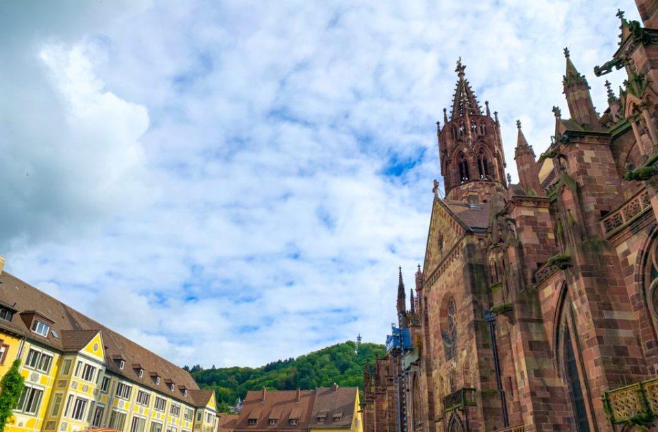 Black Forest from the Munsterplatz in Freiburg in Breisgau