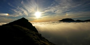 Sgurr Choinnich Mor, Aonach Beag, Temperature Inversion, Mist, Cloud iridescence