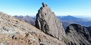 Photo of the Inaccessible Pinnacle of Sgurr Dearg, an improbable pinnacle of rock on Sgurr Dearg of the Black Cuillin.