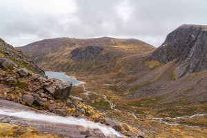 Photo of the Allt Coire Domhain, Loch Avon and Beinn Mheadhoin