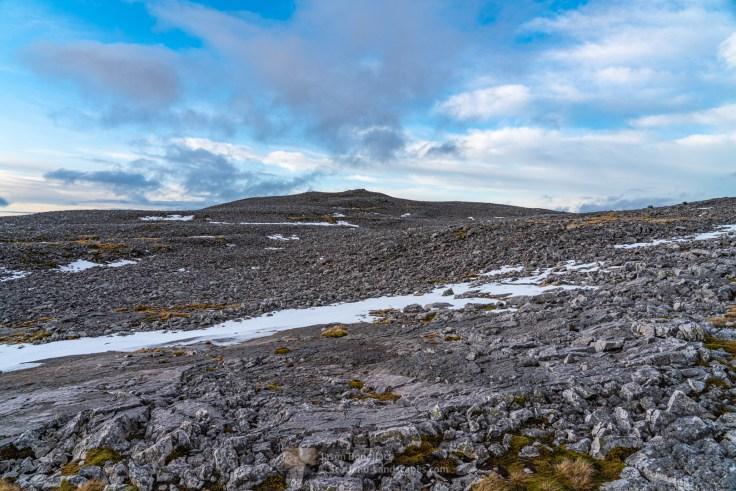 The very rocky, moon like, Beinn Uidhe summit plateau