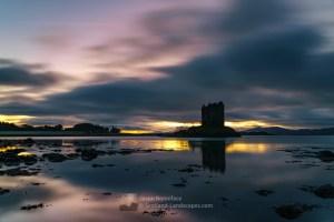 Sunset, Castle Stalker, Loch Linnhe and Mull, Lochaber