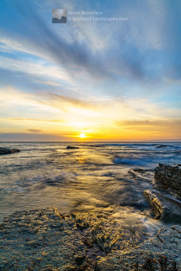 Sunset at St John's Point - Swirling Seaweed, Caithness