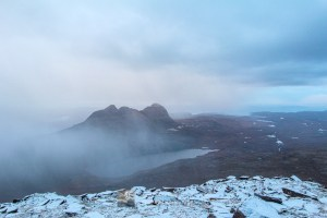 Suilven Snow Shower, Assynt & Ullapool