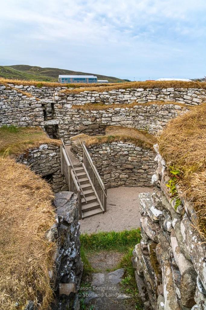 Inside Clickimin Broch, Shetland