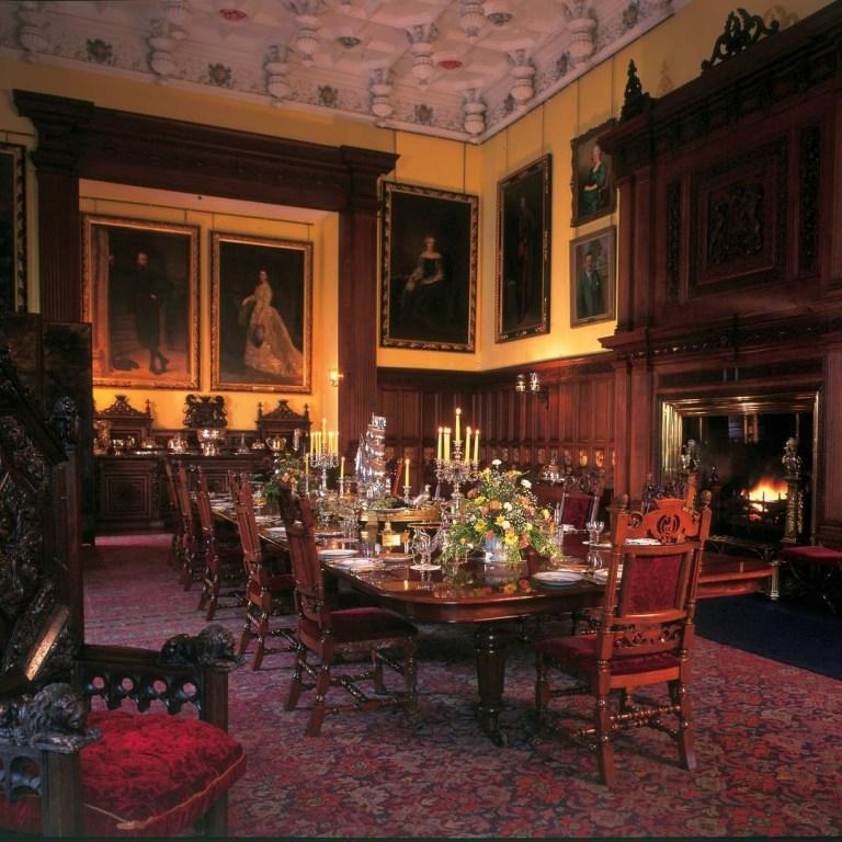 Glamis Castle sala da pranzo