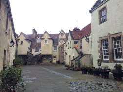 We found this charming little neighborhood down a little close right of the Royal Mile.