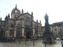 """St. Giles Cathederal, 12th Century! Nicknamed, """"The Mother Church of Presbyterianism""""- this was the hub of the Reformation. First medieval church I've ever seen!"""